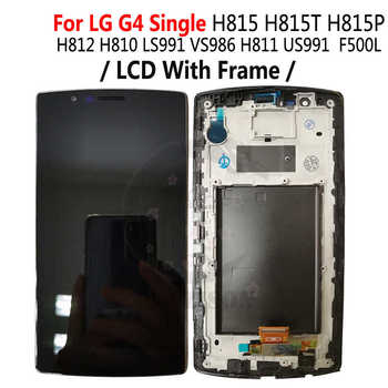 Dėl LG G4 Dual H818 H818P LCD G4 H815 H812 H810 LS991 VS986 LCD Ekranas Touch